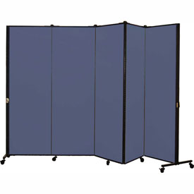 Healthflex Portable Medical Privacy Screen, 5-Panel, Lake