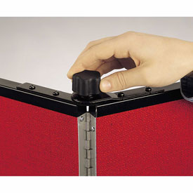 Screenflex Black Powdered Painted Metal Panel Lock for 3 Panel