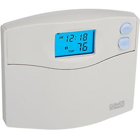 Programmable Digital Wall Thermostat w/ Single Stage Heat Pump