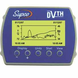 Supco Temperature/Humidity Logger with Display DVTH