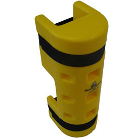 """Rack Sentry® Rack Protector with Cutout, 4"""" x 3"""" Opening, 18""""H, Yellow"""