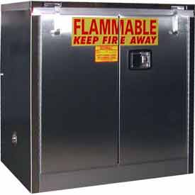 "Securall® 30-Gallon 36""W Manual Close, Flammable Cabinet Stainless Steel"