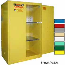 Securall® 90-Gallon, Manual Door, Flammable Cabinet Red