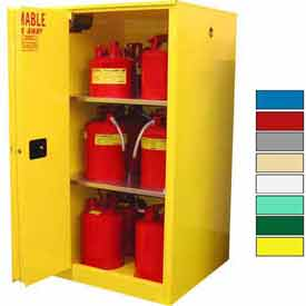 Securall® 60-Gallon Sliding Door, Flammable Cabinet Yellow