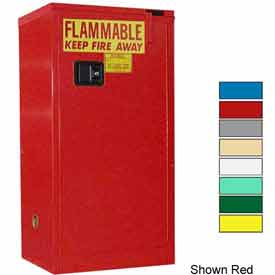 Securall® 16-Gallon, Self-Close Flammable Cabinet Md Green