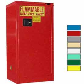 Securall® 16-Gallon, Self-Close Flammable Cabinet Red