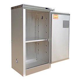 Securall® 16-Gallon Sliding Door Flammable Cabinet Stainless Steel
