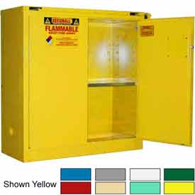 Securall® 43x18x46 30-Gallon, Self-Close Flammable Cabinet Md Green