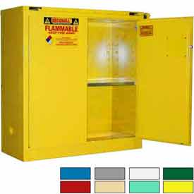 Securall® 43x18x46 30-Gallon, Self-Close Flammable Cabinet Yellow