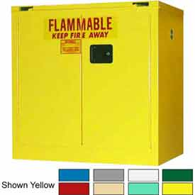 Securall® 36x24x37 30-Gallon, Self-Close Flammable Cabinet Blue