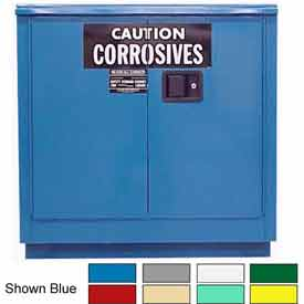 Securall® 24-Gallon Manual Close, Acid & Corrosive Cabinet Red