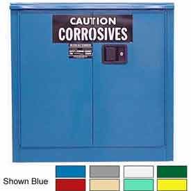Securall® 30-Gallon Manual Close, Acid & Corrosive Cabinet Md Green