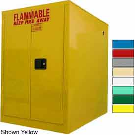 Securall® 60-Gallon, Sliding Door, Horizontal Flammable Drum Cabinet Blue