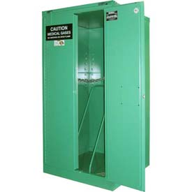 "Securall® 9, H Cylinder, Vertical Medical Fire Lined Gas Cabinet, 34""W x 34""D x 67""H"