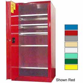 Securall® 120-Gallon, Sliding Door, Paint/Ink Cabinet Ag Green