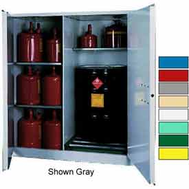 Securall® 115-Gallon, Manual Close,Vertical Flammable Drum Cabinet Ag Green