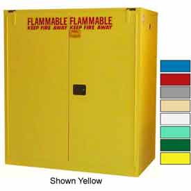 Securall® 120-Gallon, Self Close, Vertical Flammable Drum Cabinet Beige