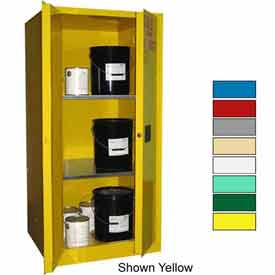 Securall® 60-Gallon, Manual Close, Haz Waste Safety Can Cabinet Blue