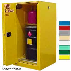 Securall® 60-Gallon, Sliding Door, Haz Waste Drum Storage Cabinet Ag Green