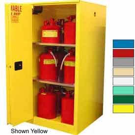 Securall® 45-Gallon,Sliding Door, Haz Waste Safety Can Cabinet Md Green