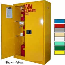 Securall® 45-Gallon, Self Close, Haz Waste Safety Can Cabinet Md Green