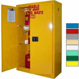 Securall® 45-Gallon, Self Close, Haz Waste Safety Can Cabinet Yellow