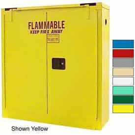 Securall® 24-Gallon Self-Close, Wall-Mounted Flammable Cabinet Md Green