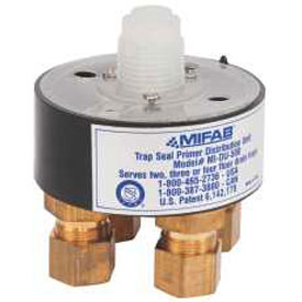 Mifab Trap Seal Primer Distribution Unit For 1 To 4 Ports, 1/2 In. Connections by