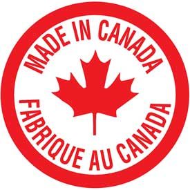"""MSD Ave-K0053 Bilingual Shipping And Caution Labels - 3/4""""Dia - Made In Canada"""