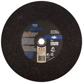 "Norton 07660789399 Metal Chop Saw Cut-Off Wheel 14"" x 3/32"" x 1"" 36 Grit Aluminum Oxide Type 1 Package... by"