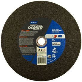 "Norton 66253214561 Gemini Chop Saw Cut-Off Wheel 12"" x 3/32"" x 1"" 36 Grit Aluminum Oxide Type 1 Package... by"