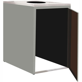 "Single Recycle Cabinet - 30""W x 27-3/4""D x 39-15/32""H (Sebring Gray)"