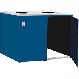 "Double Recycle Cabinet - 60""W x 27-3/4""D x 39-15/32""H (Monaco Blue)"