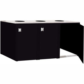 "Triple Recycle Cabinet - 90""W x 27-3/4""D x 39-15/32""H (Gloss Black)"