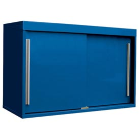 "48"" Sliding Door Upper Cabinet-48""W x 15""D x 30""H-Monaco Blue"