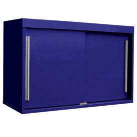 "48"" Sliding Door Upper Cabinet-48""W x 15""D x 30""H-St.Louis Blue"