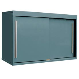 "48"" Sliding Door Upper Cabinet-48""W x 15""D x 30""H-Sebring Grey"