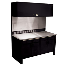 Realiti® Workcenter-Stationary w/ Stainless Steel Top-Gloss Black