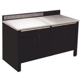 Realiti® Workbench-Stationary Includes Stainless Steel Top-Gloss Black