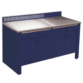 Realiti® Workbench-Stationary Includes Stainless Steel Top-St.Louis Blue