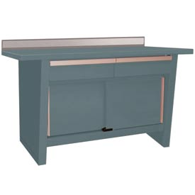 Custom® Series-Stationary, Stainless Steel Top, 2 Drawers/2 Doors-Grey