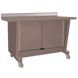 Custom® Series-Portable, Steel Top, 2 Doors-Pewter Grey