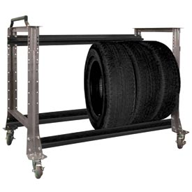 """Tire Cart 54-1/2""""W x 25-5/8""""D x 41""""H-Pewter Grey by"""