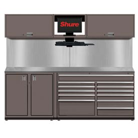 Shuretech STS-S1-8' Bench System-Pewter Grey