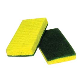 Polyurethane Scrubber Sponge Green Backed - 40 - Min Qty 6