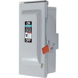 Siemens GF326NRH Safety Switch 600A, 3P, 240V, 4W, Fused, GD, Type 3R - RH