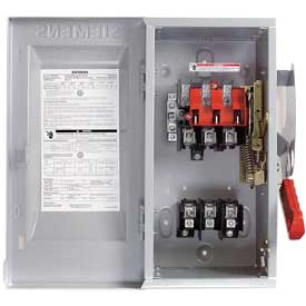 Siemens HF362 Safety Switch 60A, 3P, 600V, 3W, Fused, HD, Type 1