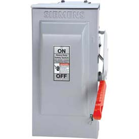 Siemens HFC363R Safety Switch CSA, 100A, 3P, 600V, 3W, Fused, HD, Type 3R