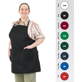Front Of The House Gourmet Full Length Bib Apron, White