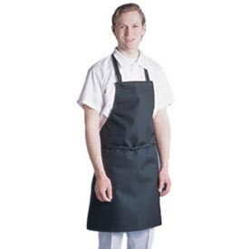 "Chef Revival 601MAJ-BK - Majesty Bib Apron, 30"" x 34"", Waterproof, Black"